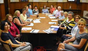 Auxiliary board members during a meeting