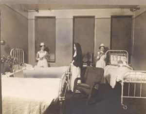 Sister Zita Zinsmeister in early 1900s nursing uniform