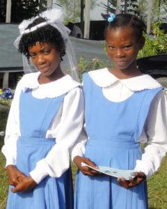 Young girls in Haiti