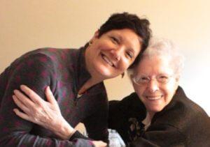 Sister Ruth Sattler with former student, Joan Van Dyke
