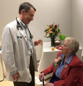 Sister Nancy Hupert retires from her position as Vice President of Jefferson Hospital.